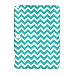 Turquoise And White Zigzag Pattern Samsung Galaxy Note 10.1 (P600) Hardshell Case