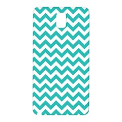 Turquoise And White Zigzag Pattern Samsung Galaxy Note 3 N9005 Hardshell Back Case
