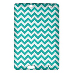 Turquoise And White Zigzag Pattern Kindle Fire Hd 7  (2nd Gen) Hardshell Case