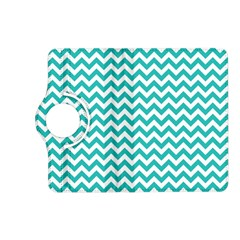 Turquoise And White Zigzag Pattern Kindle Fire HD 7  (2nd Gen) Flip 360 Case