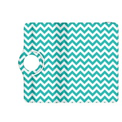 Turquoise And White Zigzag Pattern Kindle Fire HDX 8.9  Flip 360 Case