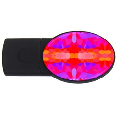 Purple, Pink And Orange Tie Dye  By Celeste Khoncepts Com 4gb Usb Flash Drive (oval)
