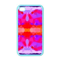 Purple, Pink And Orange Tie Dye  By Celeste Khoncepts Com Apple Iphone 4 Case (color)