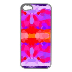 Purple, Pink And Orange Tie Dye  By Celeste Khoncepts Com Apple Iphone 5 Case (silver)