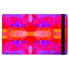 Purple, Pink And Orange Tie Dye  By Celeste Khoncepts Com Apple iPad 3/4 Flip Case