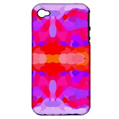 Purple, Pink And Orange Tie Dye  By Celeste Khoncepts Com Apple Iphone 4/4s Hardshell Case (pc+silicone)