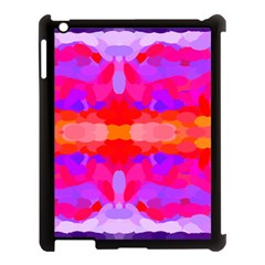 Purple, Pink And Orange Tie Dye  By Celeste Khoncepts Com Apple iPad 3/4 Case (Black)