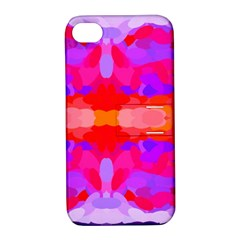 Purple, Pink And Orange Tie Dye  By Celeste Khoncepts Com Apple Iphone 4/4s Hardshell Case With Stand