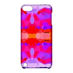 Purple, Pink And Orange Tie Dye  By Celeste Khoncepts Com Apple iPod Touch 5 Hardshell Case with Stand