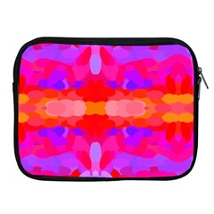 Purple, Pink And Orange Tie Dye  By Celeste Khoncepts Com Apple iPad Zippered Sleeve