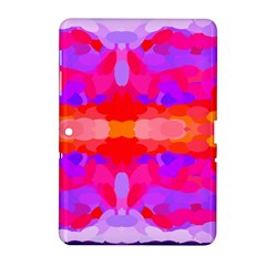 Purple, Pink And Orange Tie Dye  By Celeste Khoncepts Com Samsung Galaxy Tab 2 (10 1 ) P5100 Hardshell Case