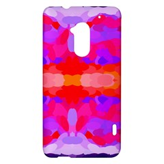 Purple, Pink And Orange Tie Dye  By Celeste Khoncepts Com HTC One Max (T6) Hardshell Case