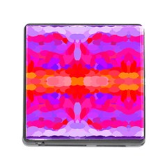 Purple, Pink And Orange Tie Dye  By Celeste Khoncepts Com Memory Card Reader With Storage (square)