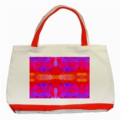Purple, Pink And Orange Tie Dye  By Celeste Khoncepts Com Classic Tote Bag (Red)