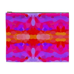 Purple, Pink And Orange Tie Dye  By Celeste Khoncepts Com Cosmetic Bag (XL)