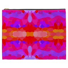 Purple, Pink And Orange Tie Dye  By Celeste Khoncepts Com Cosmetic Bag (XXXL)