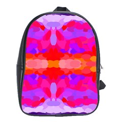 Purple, Pink And Orange Tie Dye  By Celeste Khoncepts Com School Bag (xl)