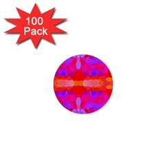 Purple, Pink And Orange Tie Dye  By Celeste Khoncepts Com 1  Mini Button (100 pack)