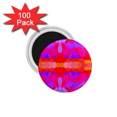 Purple, Pink And Orange Tie Dye  By Celeste Khoncepts Com 1.75  Button Magnet (100 pack)