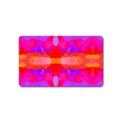 Purple, Pink And Orange Tie Dye  By Celeste Khoncepts Com Magnet (name Card)
