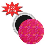 Psychedelic Kaleidoscope 1.75  Button Magnet (100 pack)