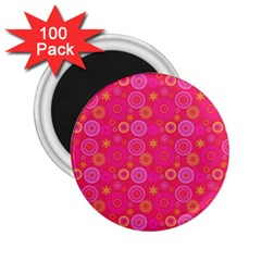 Psychedelic Kaleidoscope 2.25  Button Magnet (100 pack)