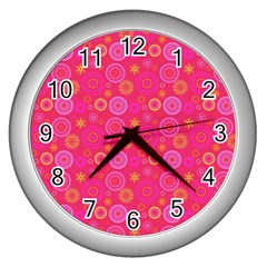 Psychedelic Kaleidoscope Wall Clock (Silver)
