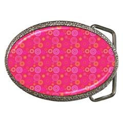 Psychedelic Kaleidoscope Belt Buckle (Oval)