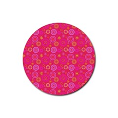 Psychedelic Kaleidoscope Drink Coaster (round)