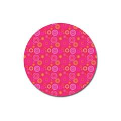 Psychedelic Kaleidoscope Magnet 3  (Round)