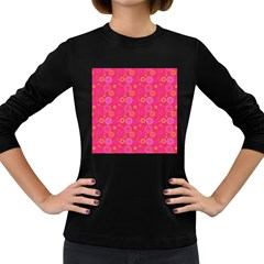 Psychedelic Kaleidoscope Women s Long Sleeve T-shirt (Dark Colored)