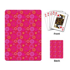 Psychedelic Kaleidoscope Playing Cards Single Design