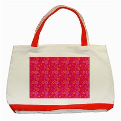 Psychedelic Kaleidoscope Classic Tote Bag (Red)