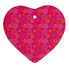 Psychedelic Kaleidoscope Heart Ornament (Two Sides)