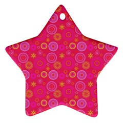 Psychedelic Kaleidoscope Star Ornament (Two Sides)