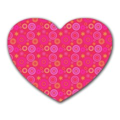 Psychedelic Kaleidoscope Mouse Pad (Heart)