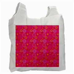 Psychedelic Kaleidoscope White Reusable Bag (One Side)