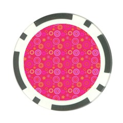 Psychedelic Kaleidoscope Poker Chip (10 Pack)