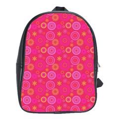 Psychedelic Kaleidoscope School Bag (large)