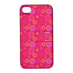 Psychedelic Kaleidoscope Apple Iphone 4/4s Hardshell Case With Stand