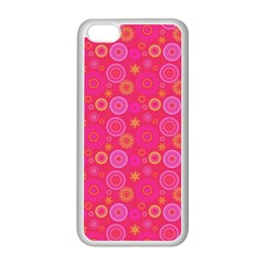 Psychedelic Kaleidoscope Apple iPhone 5C Seamless Case (White)