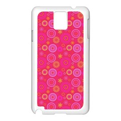 Psychedelic Kaleidoscope Samsung Galaxy Note 3 N9005 Case (White)