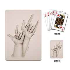 I Love You Playing Cards Single Design