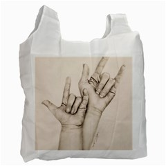 I Love You White Reusable Bag (one Side)