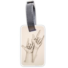 I Love You Luggage Tag (Two Sides)