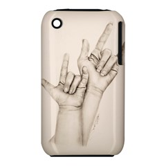 I Love You Apple iPhone 3G/3GS Hardshell Case (PC+Silicone)