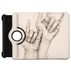 I Love You Kindle Fire HD 7  (1st Gen) Flip 360 Case