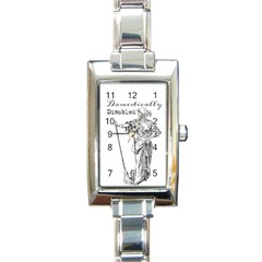 Domestically Disabled Rectangular Italian Charm Watch