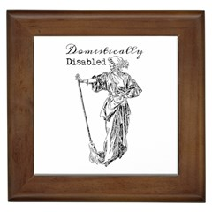 Domestically Disabled Framed Ceramic Tile