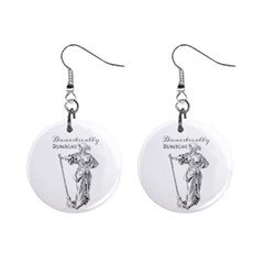 Domestically Disabled Mini Button Earrings
